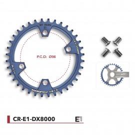 Plateau VTT Fouriers qualité E1 compatible Shimano XT M 8000 cr-e1-dx8000