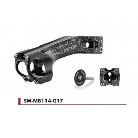 Potence alu CNC Fouriers -17° cintre Ø31,8mm - fourche Ø28,6mm SM-MB114-G17