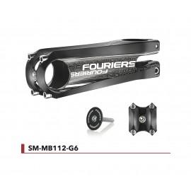 Potence alu Fouriers ±6° cintre Ø31,8mm - fourche Ø28,6mm Aéro SM-MB112-G6