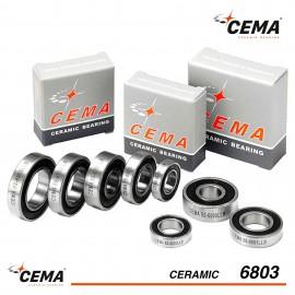 Roulement 6803 CEMA Céramique Hybride