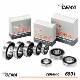 Roulement 6801 CEMA Céramique Hybride
