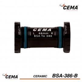 Boitier de pedalier BSA 386 Céramique pour FSA386 et Rotor 30mm CEMA SRC-BT-BSA386B