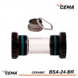 Boitier de pedalier BSA 24 Céramique pour SRAM GXP CEMA BSA24BR