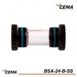 Boitier de pédalier BSA 24 Inox pour SHIMANO CEMA BSA24B-SS