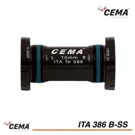 Boitier de pédalier ITA 386 Inox pour FSA386 et Rotor BB30 CEMA SRC-ITA386B-SS