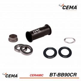 Boitier de pédalier BB90-BB95 céramique CEMA BT-BB90CR pour Sram GXP