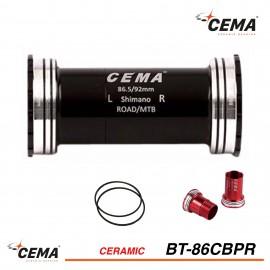 Boitier de pédalier BB86-BB92 céramique pour Shimano