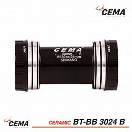 Boitier de pédalier roulements céramique BB30 pour Shimano CEMA BT-BB3024B