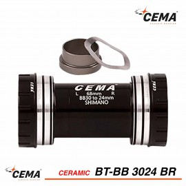 Boitier de pédalier céramique BB30 pour SRAM GXP - CEMA BT-BB3024BR