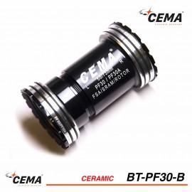 Boitier de pédalier Pressfit 30mm Céramique pour SRAM & FSA - CEMA BT-PF30-B
