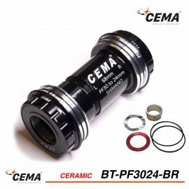 Boitier de pédalier Pressfit 30 to 24mm Céramique pour SRAM GXP CEMA BT-PF3024-BR