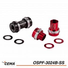 Boitier de pédalier Inox CEMA ospf-3024b-ss pour Spécialized Shimano
