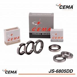 Roulement de pédalier CEMA JS-6805-DD Acier chromé