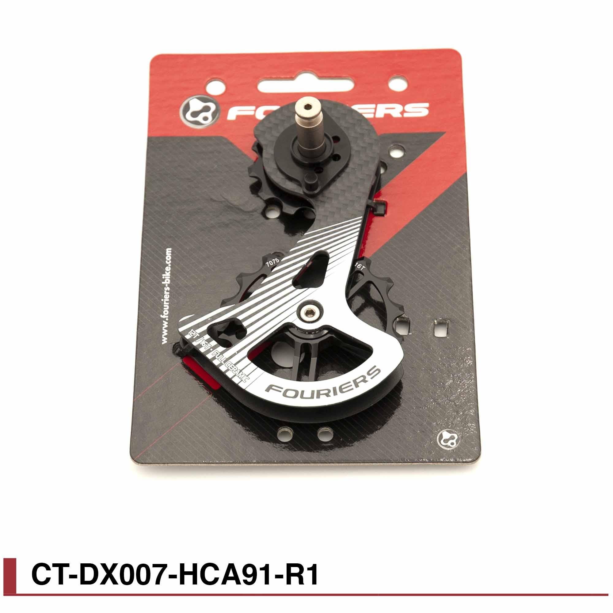Chape Fouriers carbone Full ceramique pour Shimano RD 9100/9150/8000 ct-dx007-hca91 noir