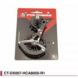 Chape Fouriers carbone Full ceramique pour Shimano RD8050 rouge