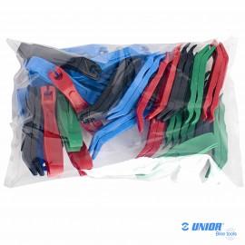 Lot 27 paires démontes pneu UNIOR 1657STR couleurs