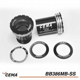 Boitier de pédalier CEMA 386 EVO Chromé pour Praxis M30